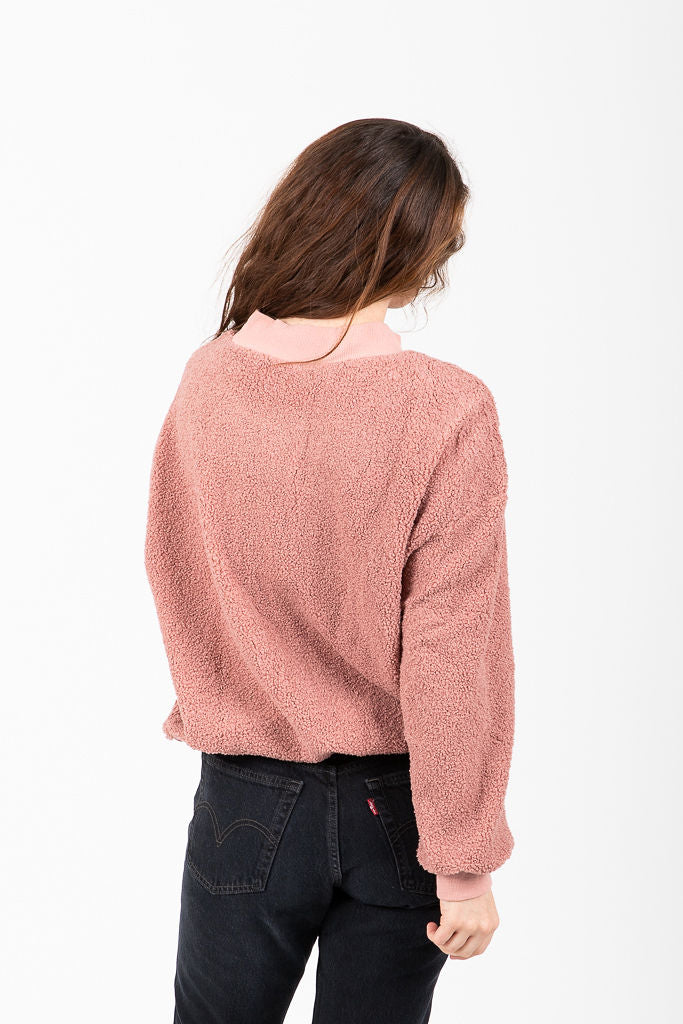 The Waltham Comfy Mock Neck in Mauve