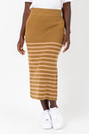 The Angela Patterned Skirt in Mustard
