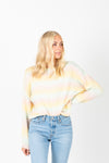 The Estelle Cozy Knit in Pastel, studio shoot; front view