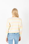 The Estelle Cozy Knit in Pastel, studio shoot; back view