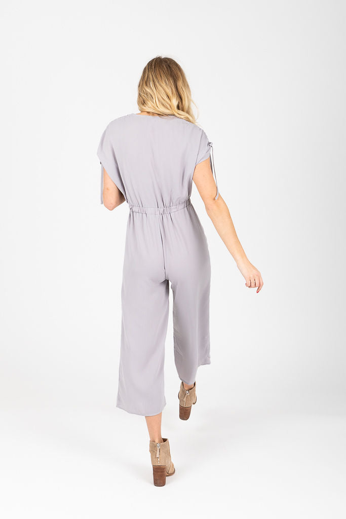 The Alex Cinch Jumpsuit in Grey