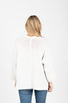The Soul Pocket Knit Cardigan in Ivory, studio shoot; back view