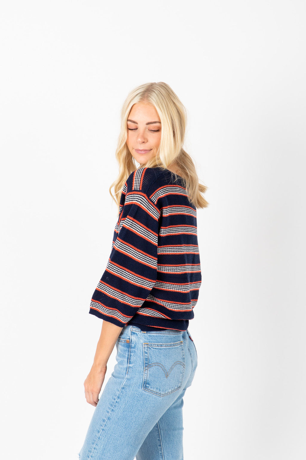 The Julia Striped Knit in Navy