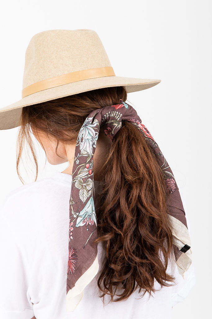 Rosewood Cotton Neck Scarf