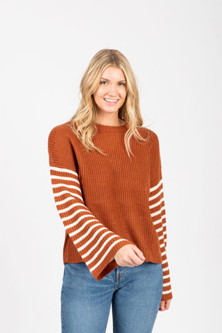 The Chief Slit Sweater in Mustard