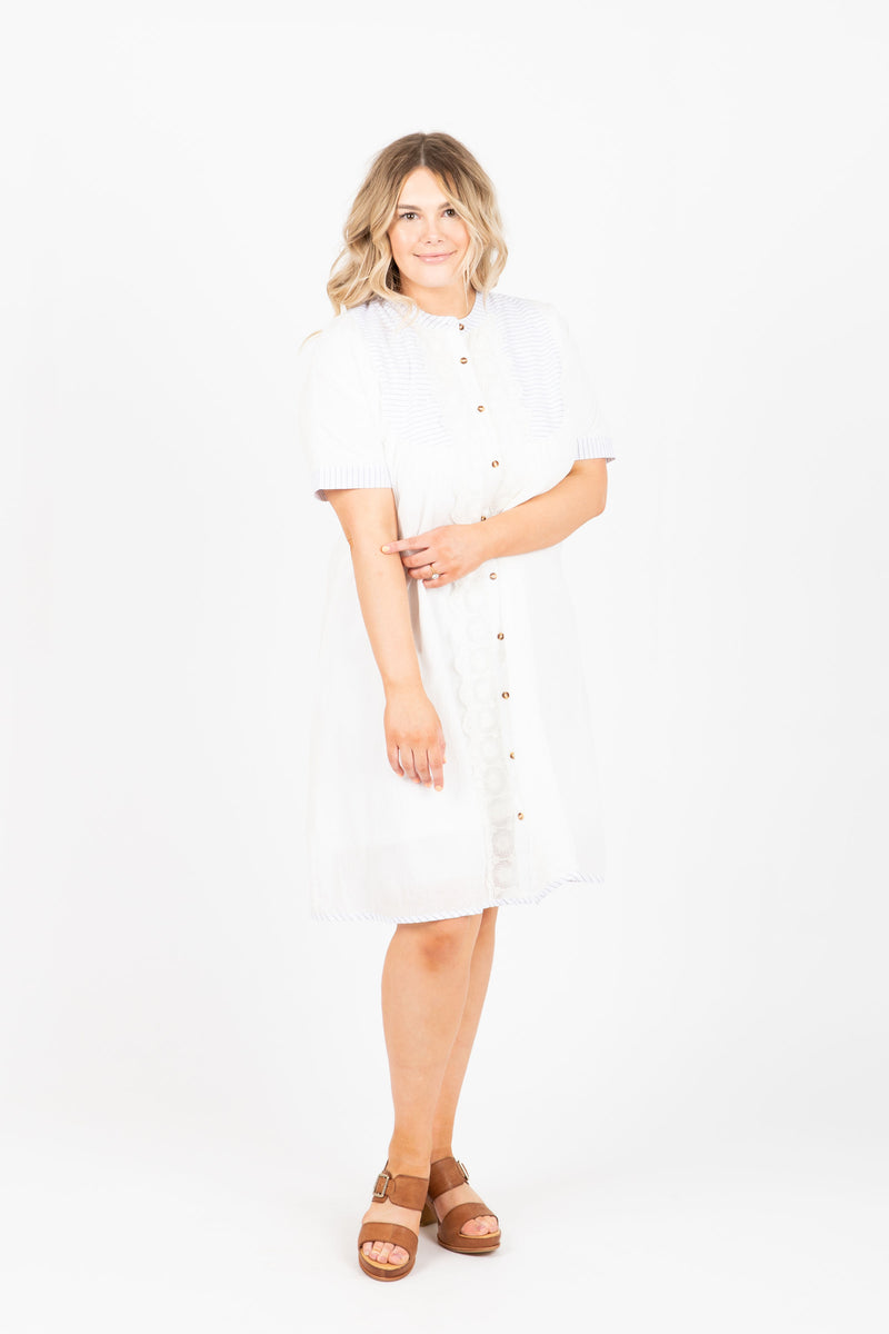 Piper & Scoot: The Crush Lace Detail Dress in White