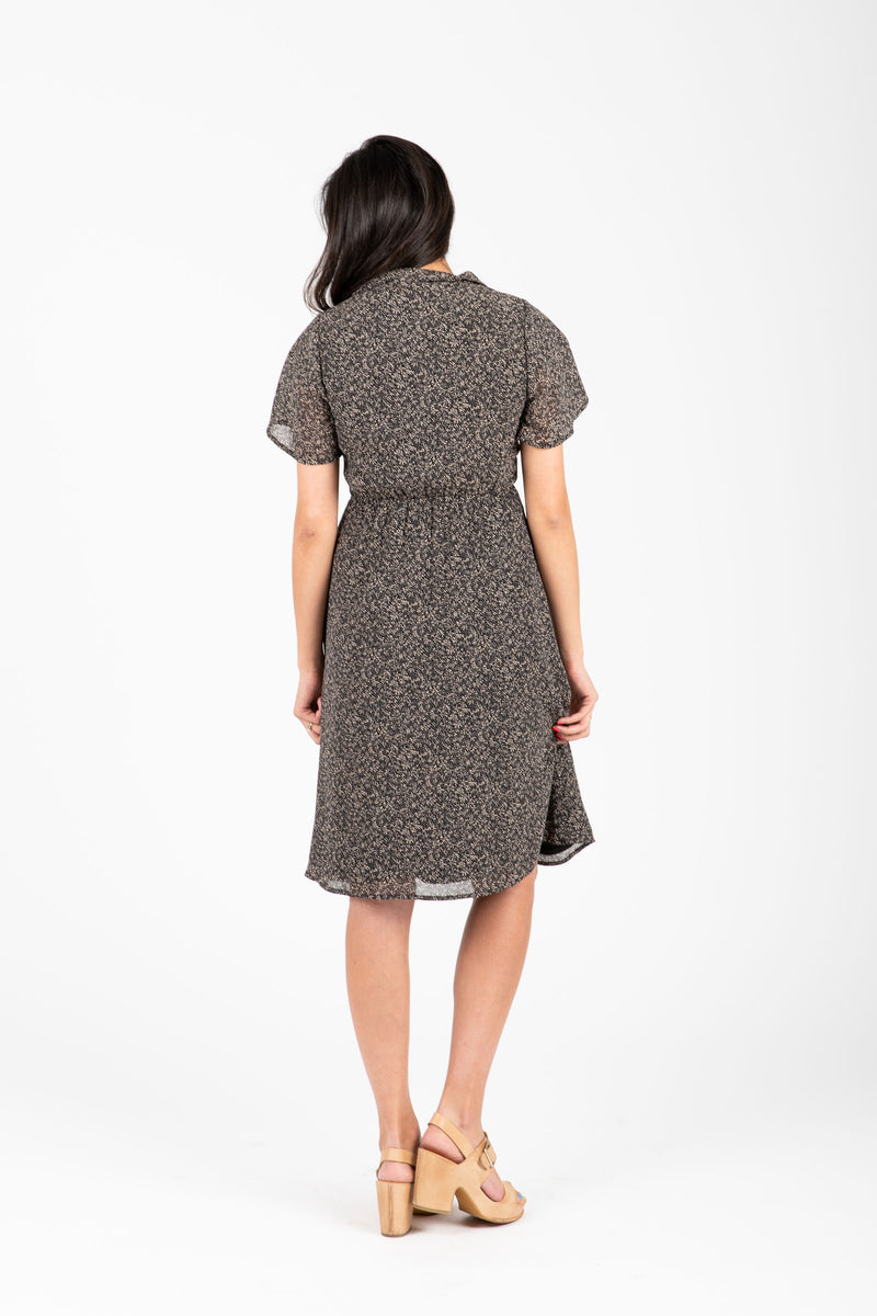 Piper & Scoot: The Stallion Patterned Collar Dress in Black