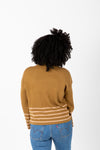 The Chandler Pairing Knit Top in Herb, studio shoot; back view