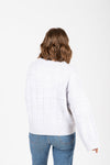 The Form Casual Sweater Blouse in Grey, studio shoot; back view