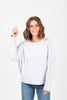 The Form Casual Sweater Blouse in Grey