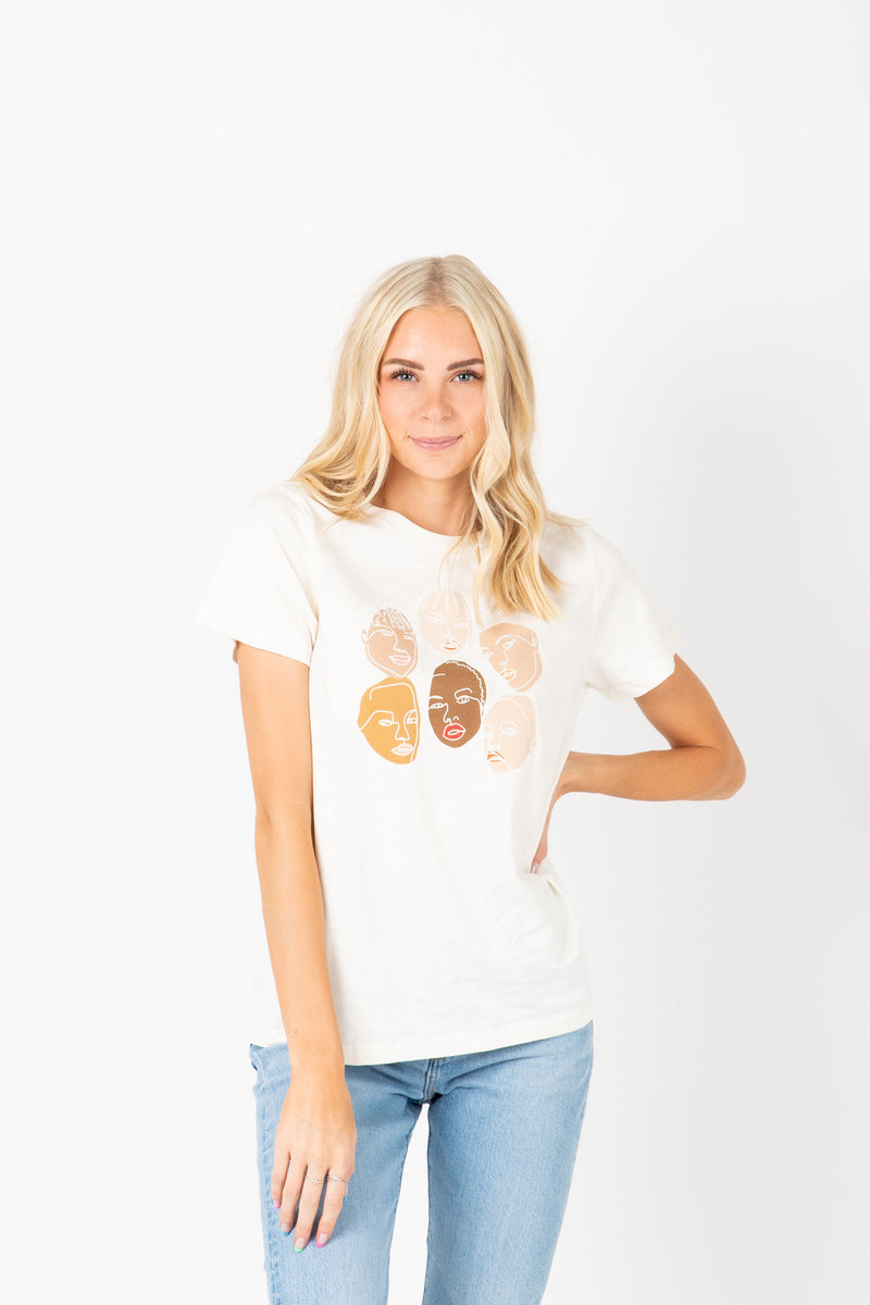 Piper & Scoot: Empower Women Graphic Tee in Vintage White