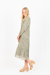 Piper & Scoot: The Daniel Patterned Tassel Dress in Sage