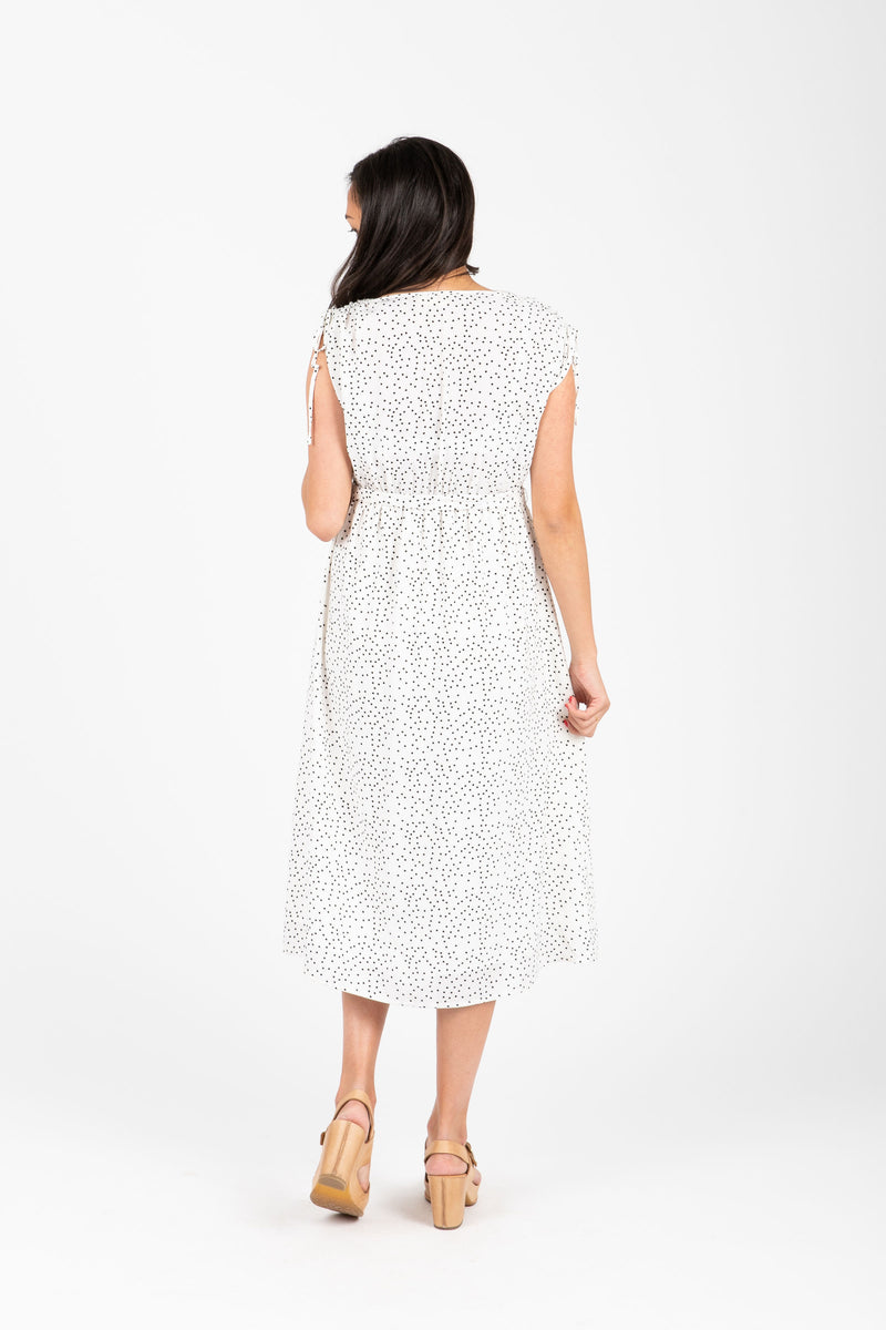 The Sweetener Tiny Dot Dress in White