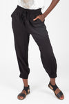 The Dallas Belted Trouser in Black