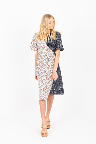 Piper & Scoot: The Bertram Bib Maxi Dress in Blue