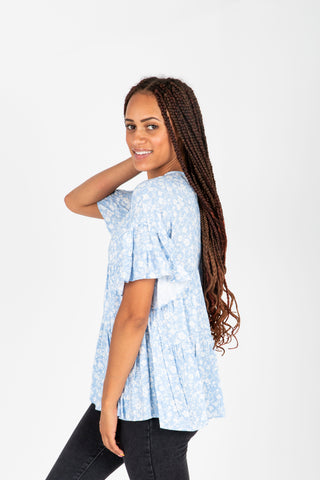 The Ethan Gingham Dress in Denim