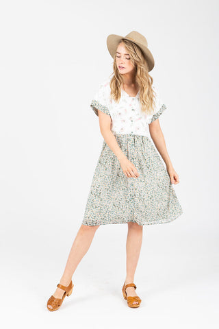 Piper & Scoot: The Grace Patch Trim Dress in Multi
