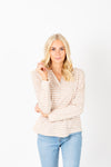 The Alice Button Knit Cardigan in Olive
