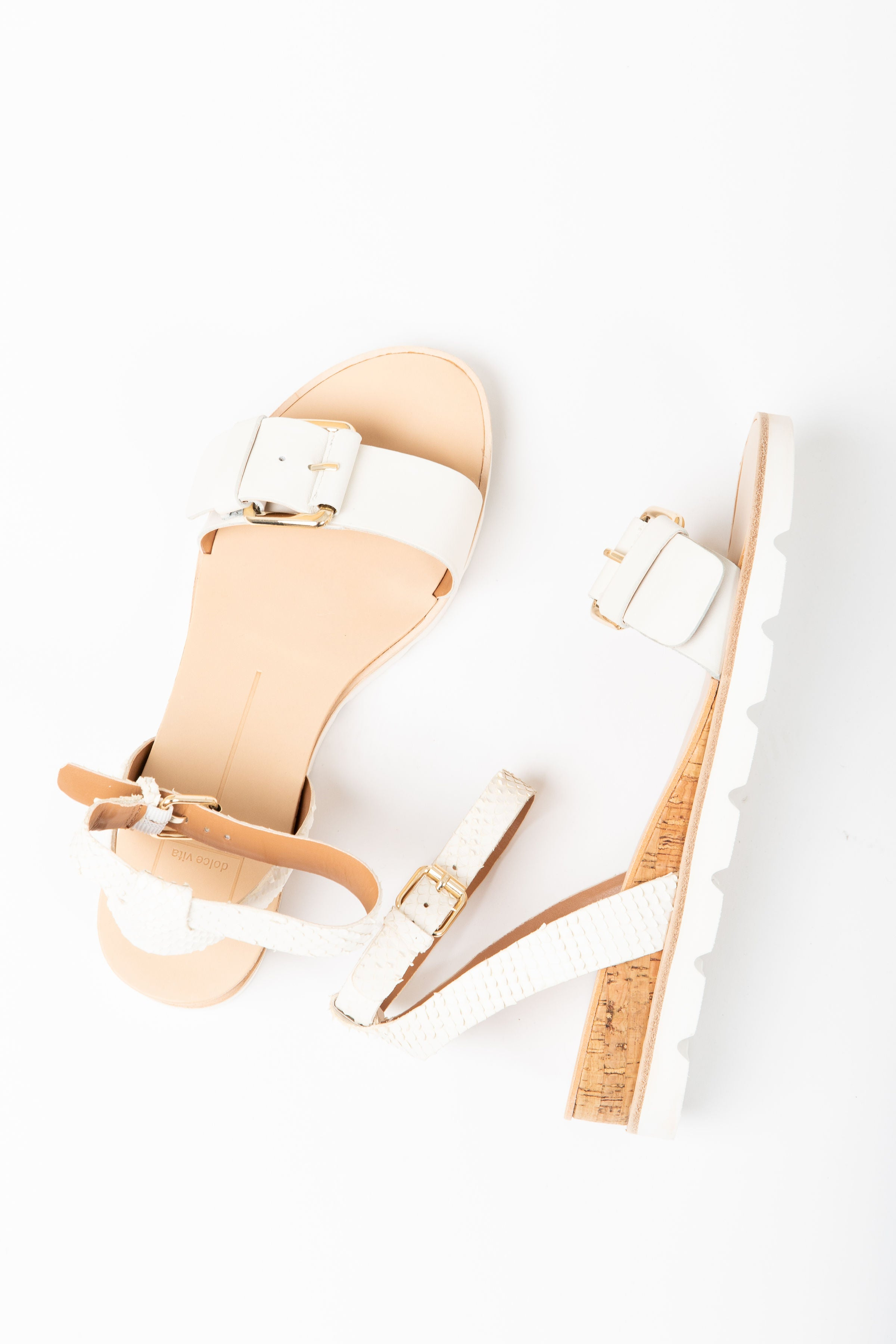Dolce Vita: Virgo Sandals in White