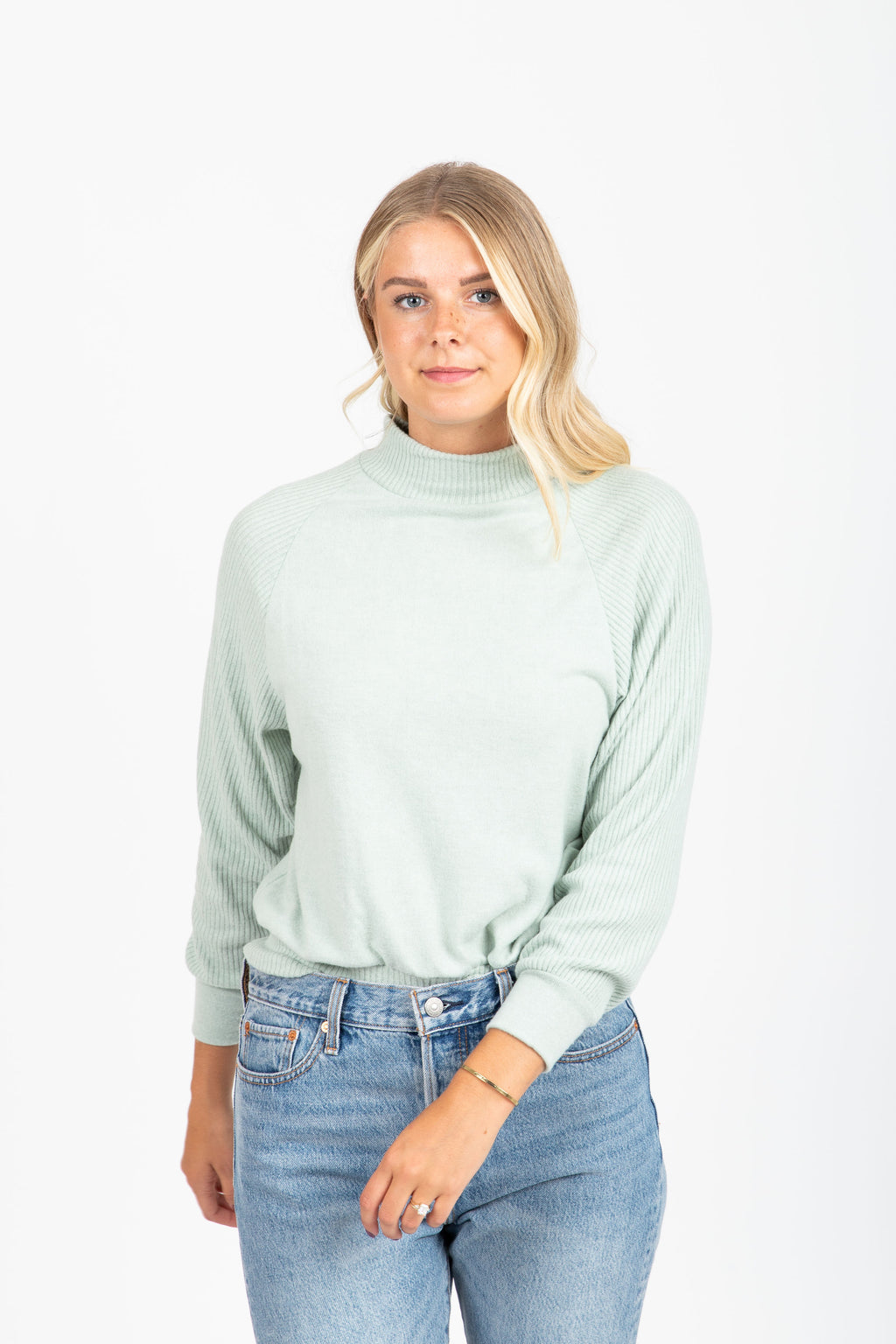 The Monday Soft Sweater in Mint