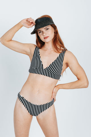SWIM: Kingdom & State Cabana Dotted Bow Top in Blue