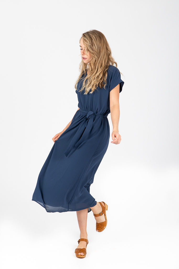Piper & Scoot: The Lauren Empire Dress in Navy