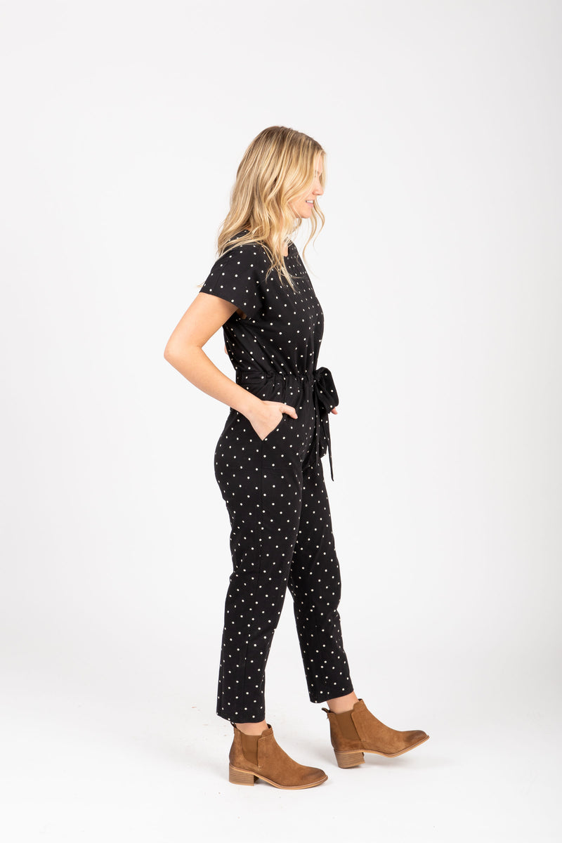 Piper & Scoot: The Bianca Cinch Jumpsuit in Dot