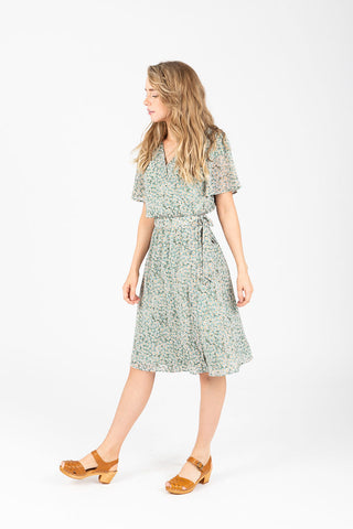 Piper & Scoot: The Brynley Scalloped Bib Dress in Carolina Blue