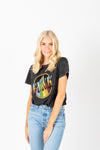 The Funky Band Tee in Charcoal