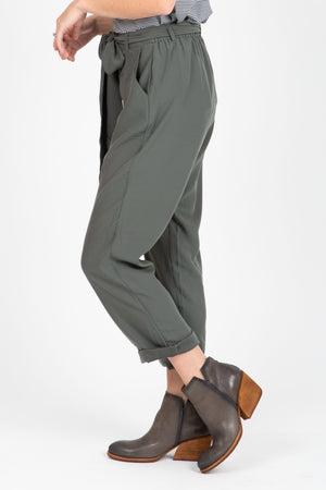 The Thursday Belted Trousers in Olive