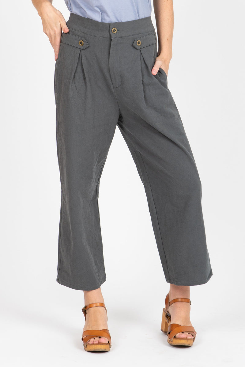 The System Pleated Trousers in Dusty Grey