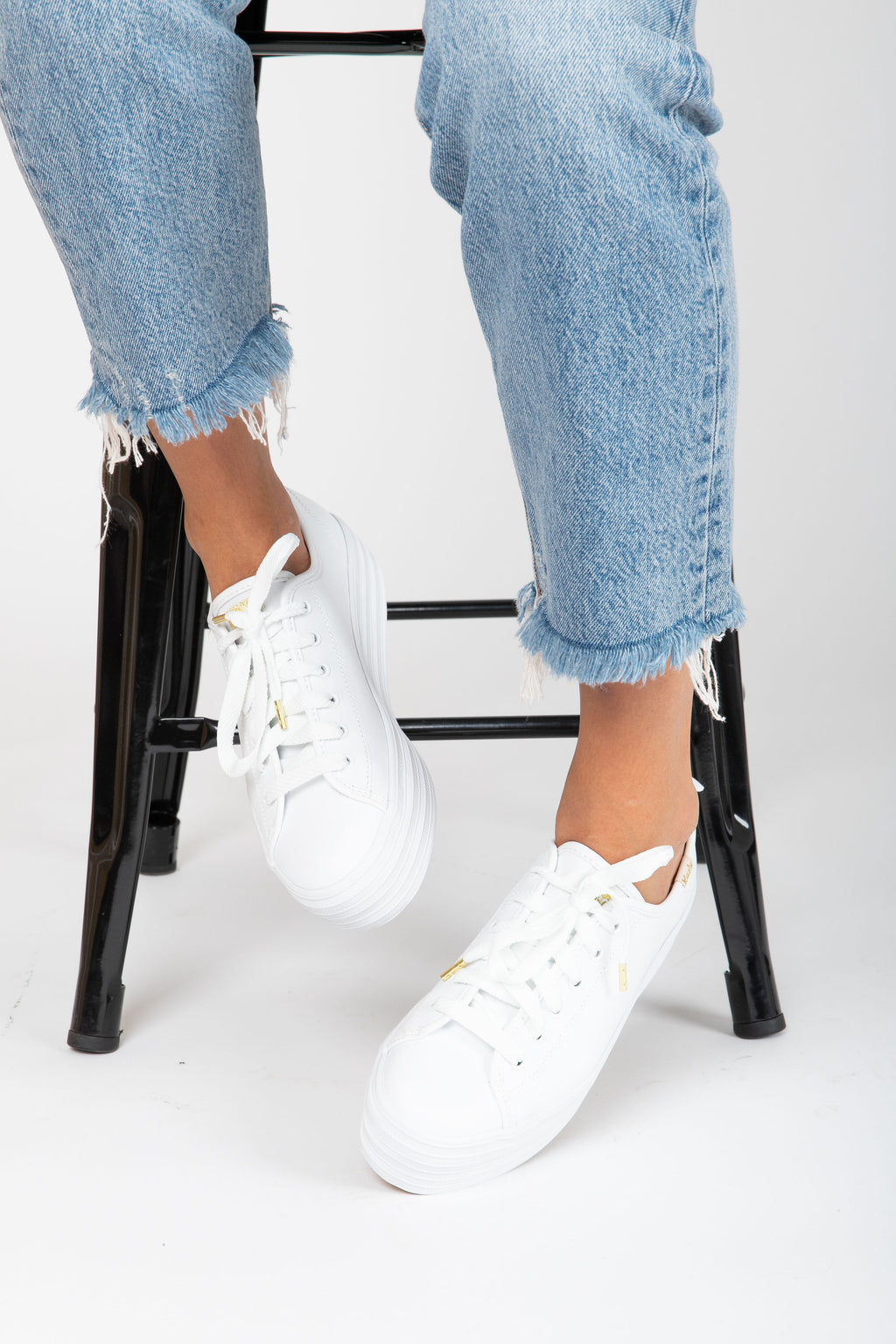 Keds: Triple Kick Leather in White