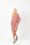 The Katee Ruffle Empire Dress in Mauve