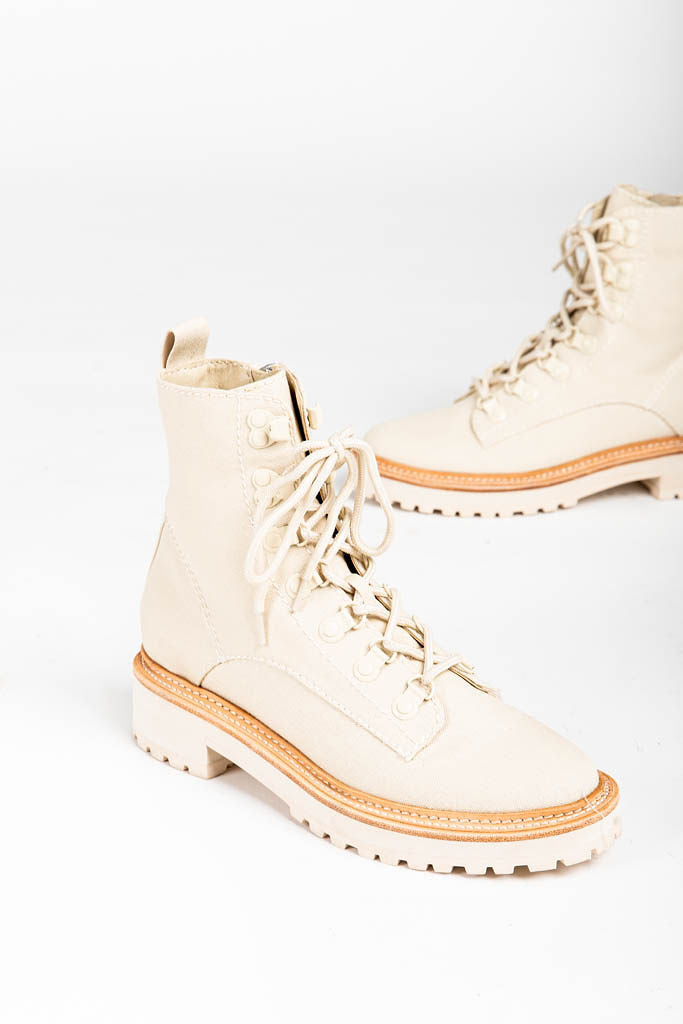 Dolce Vita: Whitny Boots in Sandstone Canvas