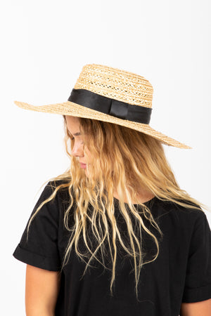Hat No. 20: The Straw Brim Boater in Black
