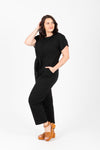 Piper & Scoot: The Bianca Cinch Jumpsuit in Black