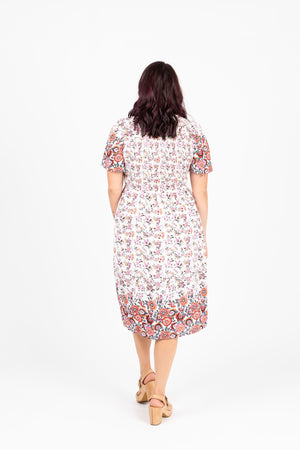 Piper & Scoot: The Mandi Tiny Floral Dress in Ivory