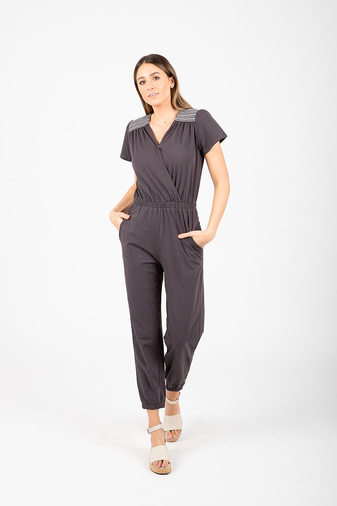 The Mary Detail Jumpsuit in Slate