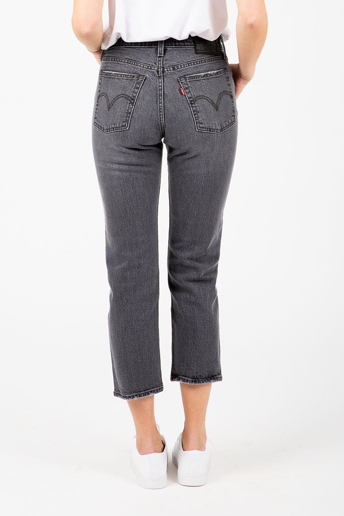 Levi's: Wedgie Fit Straight Jeans in Black Heart