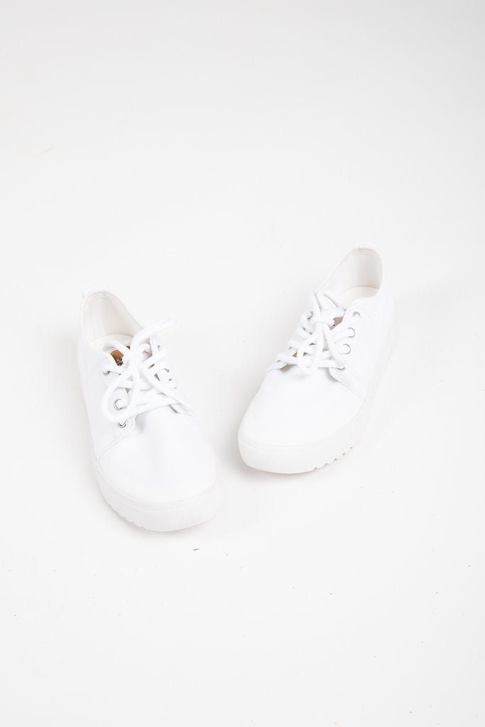 Sorel: Campsneak Lace Sneaker in White