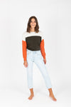 Levi's: 501 Original Stretch Cropped Women's Jeans in Shout Out Light Wash, studio shoot; front view