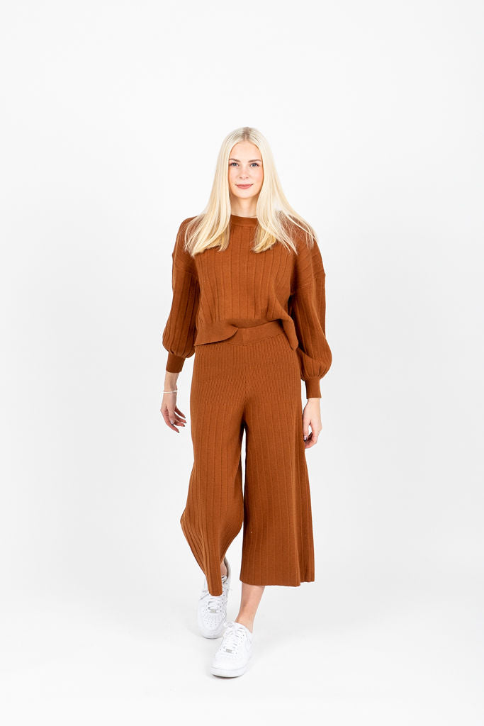 The Scott Rib Knit Set in Camel