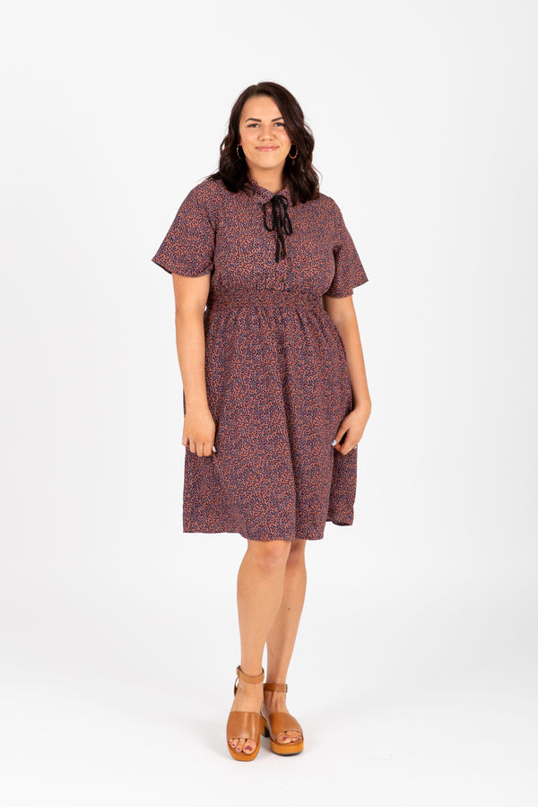 4018d49ebc6 Piper   Scoot  The Shad Floral Collared Dress in Mauve