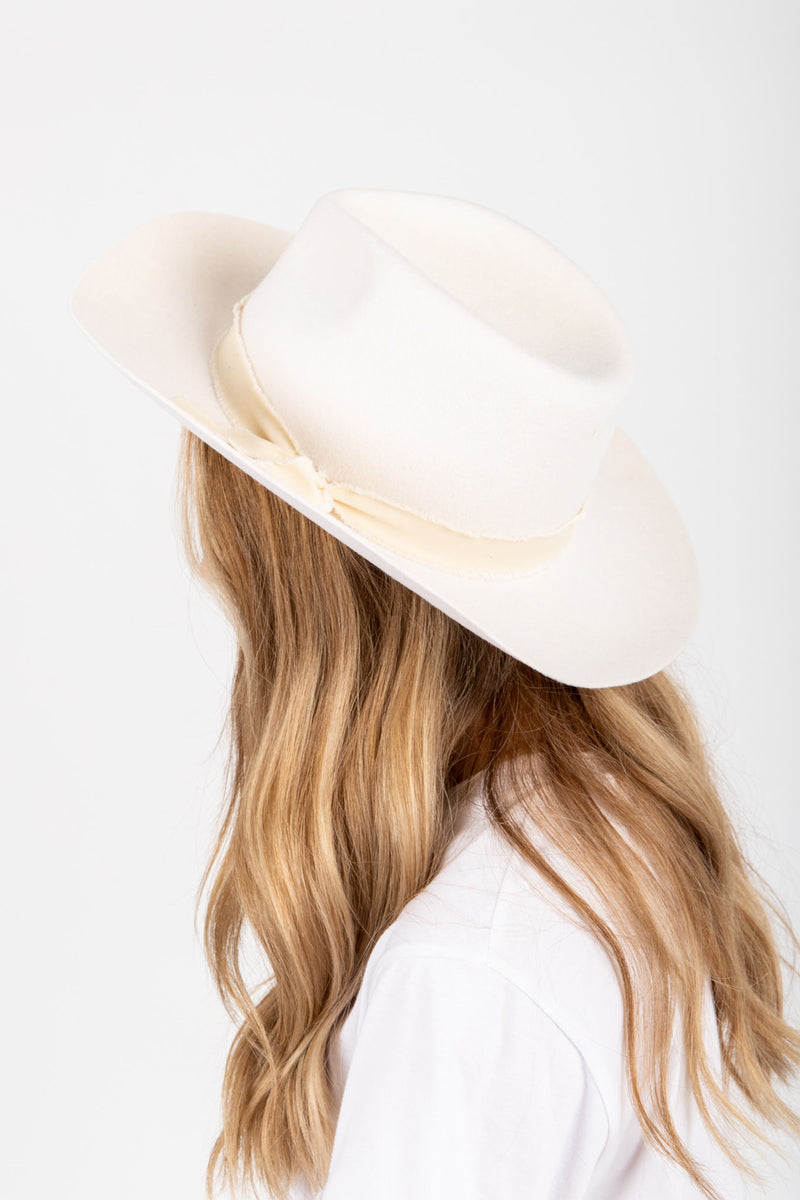 Hat No. 42: Wool Panama Hat in Ivory