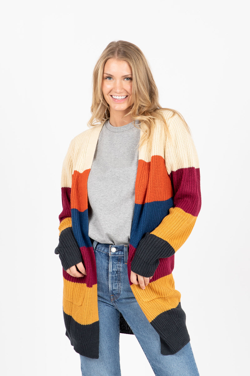 The Daphne Striped Cardigan in Palette