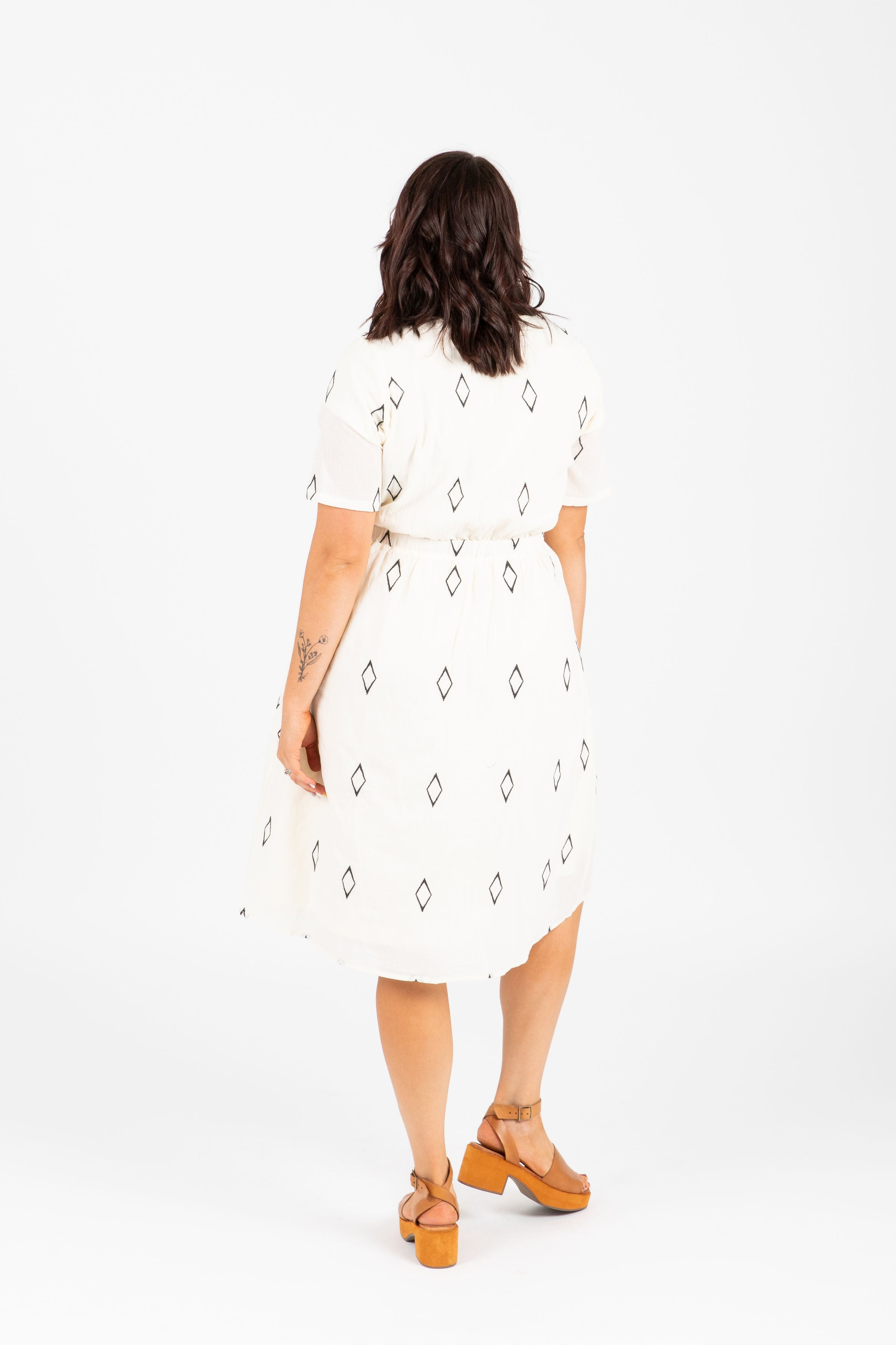 Piper & Scoot: The Danielle Diamond Empire Dress in White