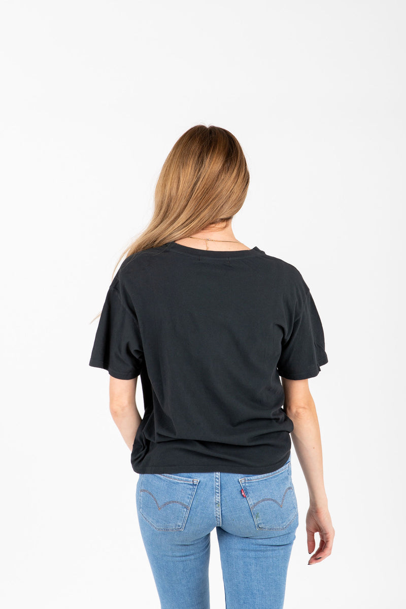 The Rolling Stones Band Tee in Black, studio shoot; back view