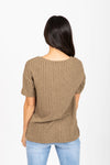 The Dinah Ribbed Blouse in Olive
