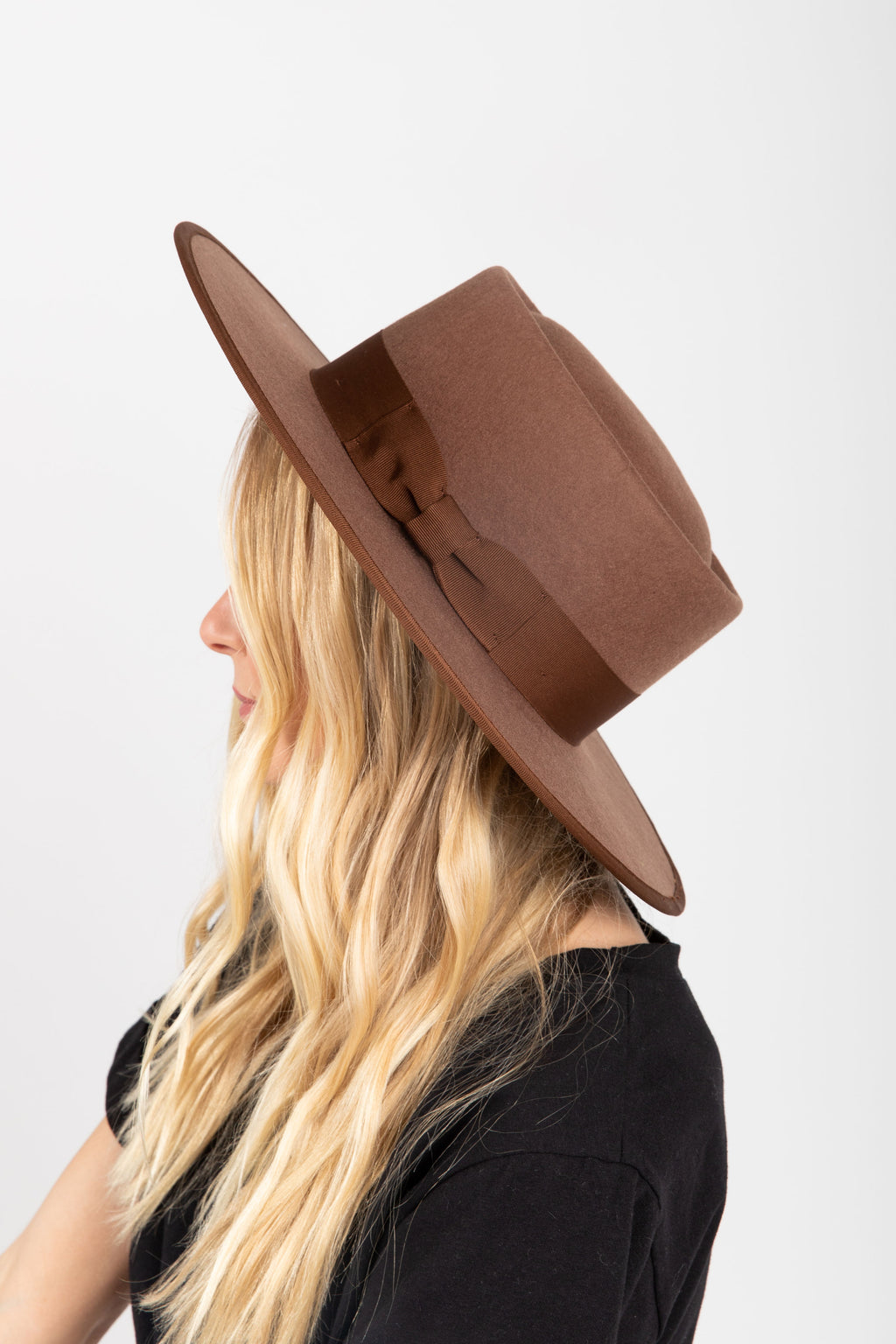 Hat No. 31: Flat Brim Round Top in Cognac