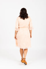 Piper & Scoot: The Taylee Lace Ruffle Dress in Peach